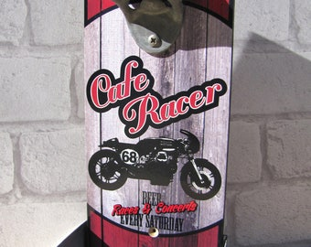 bottle opener wall cafe racer by deco cars