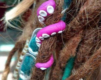 Tentacle dreadlock bead