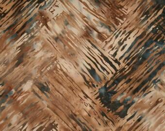 Patchwork fabric Navy Blue and Brown - 100% cotton - batik 161