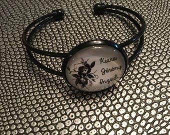 Bracelet metal gift idea black names