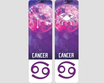 Cancer Zodiac Sign Indestructible waterproof bookmark