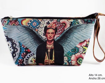 Frida Kahlo Cosmetic Leather Bag