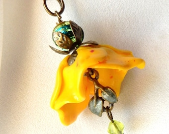 Flower Bell pendant * eternal Sun *.