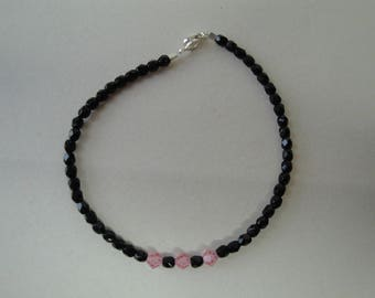 Black faceted Beads Bracelet