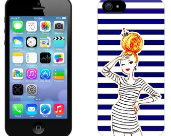 Case for iPhone 4-5-6-7, sailor girl