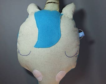 Sleeping Unicorn head cushion