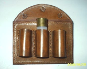 small Bandolier hunting 3 genuine leather cases