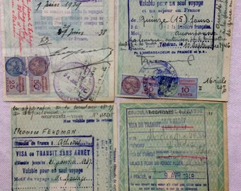 Vintage French Fiscal Stamps
