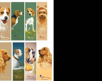 Brand-pages collection, theme 3 dogs series, by the artist Martin deMEZERAC
