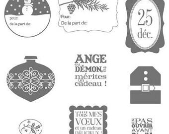 Stampin UP Tags Til Christmas Rubber Stamp Set