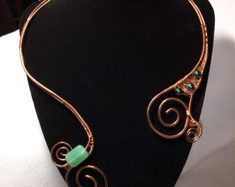 Natural copper necklace