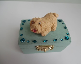 Polymer clay dog safe box / tooth box