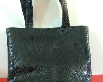 dragon black faux leather handbag