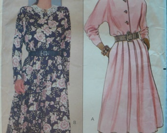 Women's, Misses' Pullover Dress Pattern, Vintage Butterick 4359, Fast and Easy, Size 12 - 16 - UNCUT