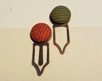 Fabric Button Bookmark