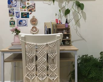 Handmade made to order macrame chair hanging