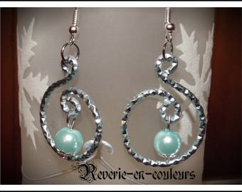 Earrings wire beads and aluminum