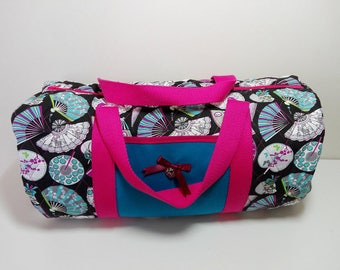 Bag knitted fabric hand quilted Duffel