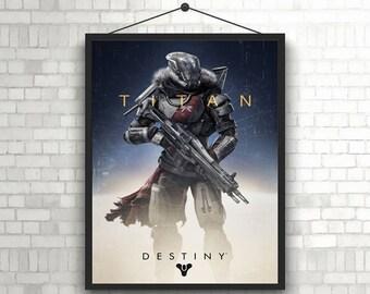 Destiny titan video game poster