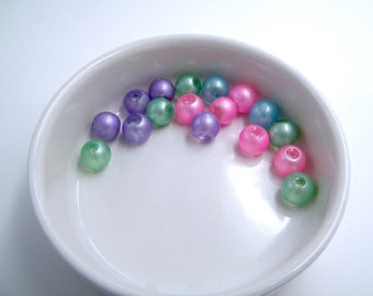 Glass beads - tangy mix - mix of 17 beads - 12 mm - hole 3 mm - lots - francesca jewelry