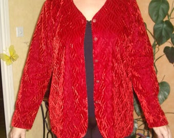 VINTAGE * red jacket FOSBY * 70's