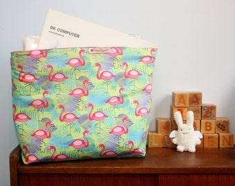 Bin rigid pattern Flamingo Pink (medium)