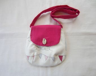 """Child's shoulder bag """"over the top of the waves"""""""
