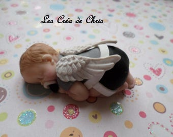 "baby boy theme ""Angel"" polymer clay."