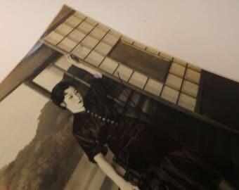 Rare WWII-era Japanese Autographed Actress Photograph - Shochiku Studios - Hana Ogawa