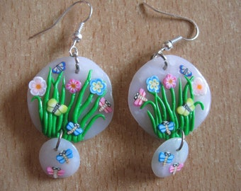These earrings my little garden of flowers