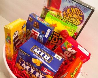 Movie Night Gift Basket.