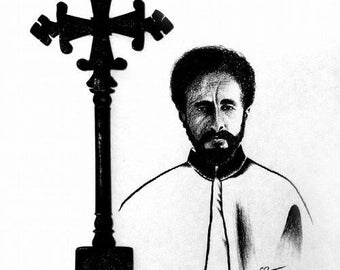 Haile Selassie I - Original Charcoal Drawing