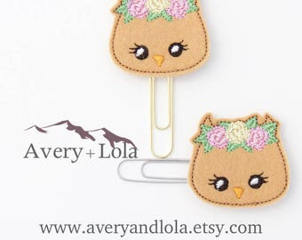Owl Planner Clip | Owl Bookmark | Owl Paper Clip | Planner Accessories | Teacher Gift | Office Gift
