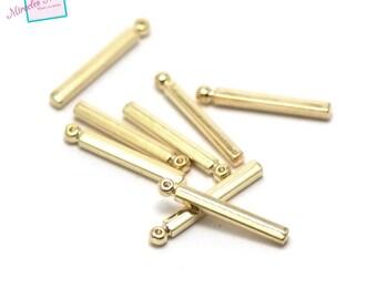 "10 ""stick"" 26x3x3mm 004 gold charms"