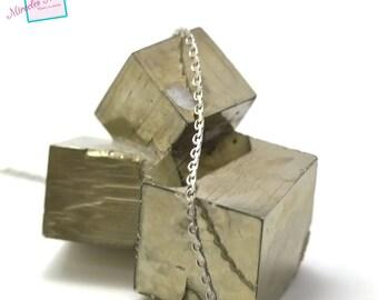 "1 m of mesh chain ""stem""3 mm silver 01 """