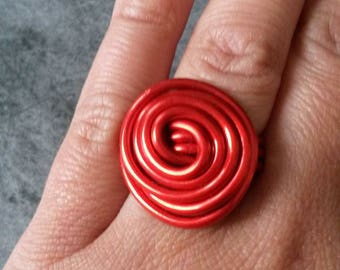 Red aluminum wire ring