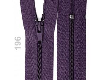 Purple nylon closure size 20 cm