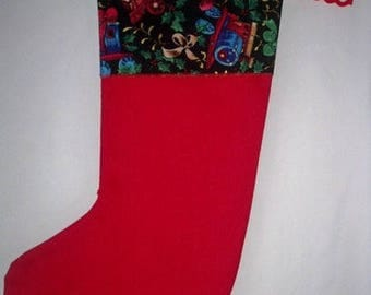 Printed in red and black Christmas boot
