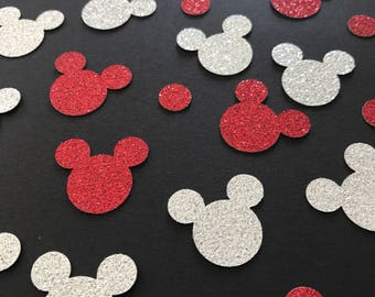 Mickey Mouse Confetti, Two Colours, Two Glitters, Mickey Mouse Inspired, Party Decorations, other colours available