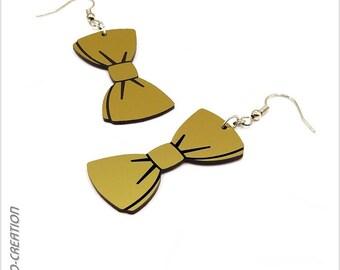 """Bow tie earrings. """"Evening"""""""