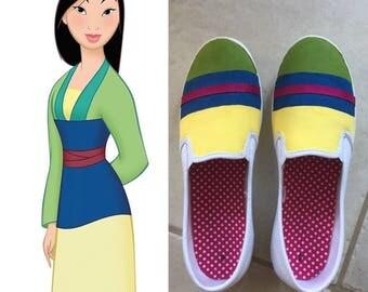 Mulan themed shoes