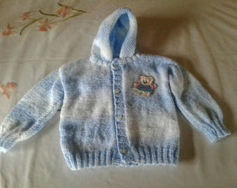 Kids vest with hood size 1 year