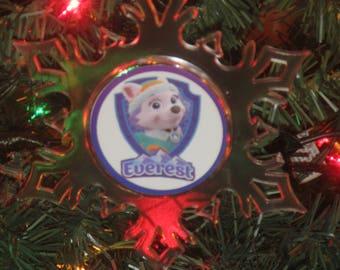 Everest Paw Patrol Personalized Acrylic SnowFlake Ornament *Free Personalization*