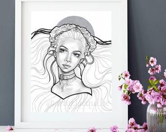 Venus Original Artwork - Goddess of Beauty