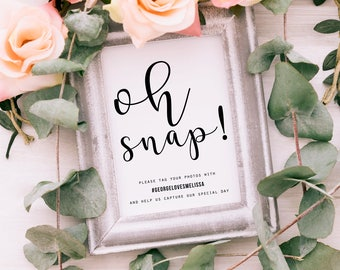 Wedding Hashtag Sign | Wedding Sign | Instagram Sign | Hashtag Sign | Printable Wedding Sign | Printable Hashtag Sign | Hash tag