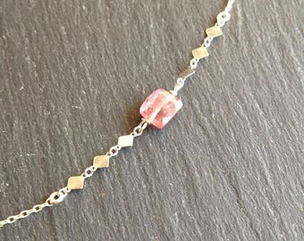 Necklace end tourmaline pink