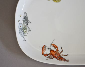 Plate / platter / 1960s / porcelain / sixties / Krautheim / Bavaria / Selb / Germany / Mid Century / Modern Kitchen / Vintage