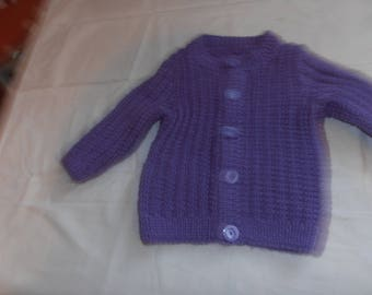 Child vest wool a year