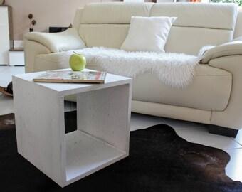 Concrete table cube cube side table coffee table bedside table concrete furniture pedestal of concrete cube