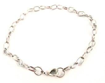 X 4 dark silver metal chain bracelets